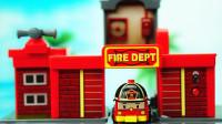 变形警车珀利迷你玩具 消防车罗伊的迷你口袋消防中心