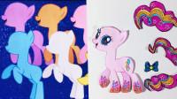 小马宝莉剪纸手工: 用彩纸做出6主角小马, 原来这么简单?