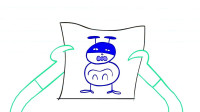 创意搞笑铅笔动画, 睡梦中铅笔人怎么也弄不醒, 最后回到了自已家中