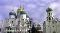 谢尔盖圣三一大修道院 莫斯科郊外的下雪天游东正教中心谢尔盖耶夫小镇