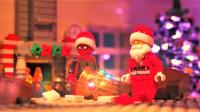 定格动画-爆笑乐高蜘蛛侠到蝙蝠侠家中送圣诞礼物