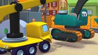 拖车汤姆: 帮助被水管卡住履带的挖掘机艾德加