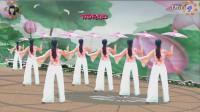 阳光美梅原创广场舞《烟雨江南》古典伞舞-背面演示-编舞: 美梅-最新广场舞