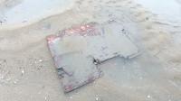 海滩上这块不起眼的木板, 掀开的瞬间, 小伙大呼发财了!