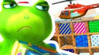 哈哈游戏秀03: 搞笑蛙探索圣诞城遇到会跳的雪人兄弟