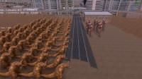 史诗战争模拟: 奥特曼打小怪兽, 10个奥特曼大战100个哥莫拉