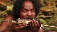 荒野生存 生存哥 森林深处生活 捕捉鱼和烹饪鱼