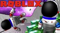 Roblox亿万富翁模拟器! 富甲天下建造火箭登陆月球开发土地! 面面解说