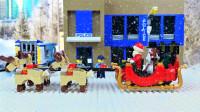 定格动画-乐高城市故事之圣诞老人偶遇假圣诞老人后交给警察