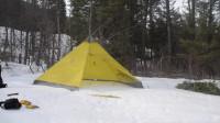 露营 旅行 荒野生存体验之冬季独自在外帐篷度过3天