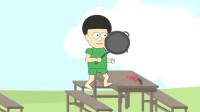 搞笑吃鸡小动画: 绿衣男落地空投枪! 招来重型坦克!