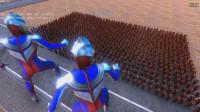 史诗战争模拟器: 2个迪迦奥特曼vs1000个闪电侠, 谁先躺下?