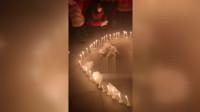 环卫工被撞身亡 300工友自发组织点蜡烛追悼
