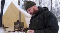 露营旅行之阿拉斯加热帐篷系列冬季荒野生存体验
