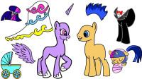小马宝莉手工剪纸: 紫悦的婚纱装扮你们觉得哪个更好看呢? 儿童玩具故事