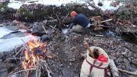 露营旅行荒野生存体验之森林过夜烹饪美食