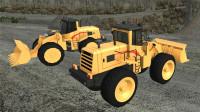 [亲子阿克]卡车矿区采矿施工停车 工程车游戏视频第三期