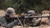 苏联大军乌拉冲锋, 德军的MG42机枪一扫射就有人倒下, 最新战争片