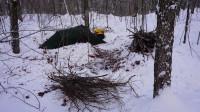 荒野生存体验之加拿大-阿尔冈昆公园冬季露营-24度寒冷