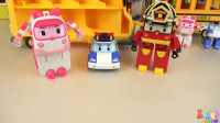 【变形警车珀利2019】校车玩具和警车珀利