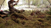 露营 旅行 小哥 独自在加拿大荒野的一个岛上建设永久性营地——10天, 10个项目
