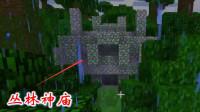 我的世界虚无世界95: 雨林里的古建筑真多, 我又发现一座丛林神庙