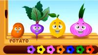 儿童英语足球游戏认识各种可爱蔬菜宝宝小朋友最爱吃的蔬菜是什么