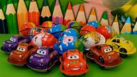 亲子玩具拆汽车总动员玩具蛋视频, 拆出了沙漠越野车和弓弩玩具!