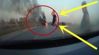 两辆摩托车引发的惨烈车祸, 隔着屏幕都觉得惊险, 太可怕了