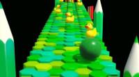有趣的ABC颜色形状早教学习-保龄球小鸭子玩具动画