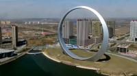 辽宁省耗资一亿建造大铁环, 被游客吐槽没用, 晚上却惊艳了人们!