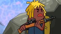 搞笑吃鸡动画: 马可波毒圈与敌人平底锅决一死战, 只是差了点运气