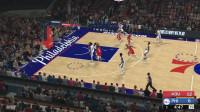 【五开花】模拟1月22日NBA比赛 76人 VS 火箭 NBA2K19