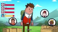 搞笑吃鸡动画: 霸哥三人被击倒呼叫瓦特救命, 结果被瓦特撞死, 自雷吧瓦特