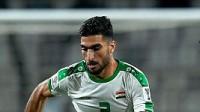 易卜拉欣接队友精妙传中,头球冲门稍稍偏出 2019亚洲杯 1/8决赛 卡塔尔VS伊拉克 1