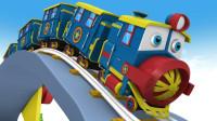 小火车运输彩色的积木玩具
