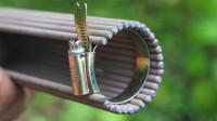 圆管直角焊接难度太高只能借助数控切割?老师傅一把焊条就解决!