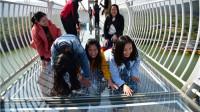 广州首座玻璃桥正式开放,7D效果吓趴女游客