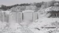尼亚加拉大瀑布部分结冰恍若仙境 北京您早 20190124