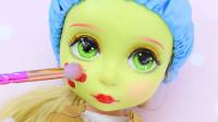 芭比娃娃美妆秀:将它重铸容颜美妆打扮成小马宝莉苹果嘉儿