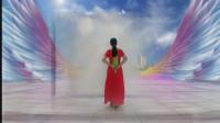 阳光美梅原创广场舞【冰雪天堂】优美中三步-背面演示-编舞:美梅