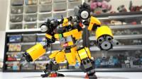 乐高MOC拼装乐高Ajax矿工机器人积木
