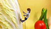原创定格动画:攀登大白菜之峰,微缩世界太萌了