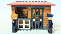 定格动画-乐高城市故事之乐高DG宇宙小丑搭建监狱小屋积木