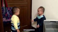 两个萌宝被自家爸比罚站,网友:这是来搞笑的吧?