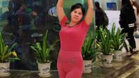 琼花舞魅:原创即兴清跳自由舞小视频:摄于海宾温泉公寓