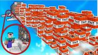魔哒我的世界模组秀111 幸运方块大挑战 感受下被TNT轰上天的爽快感