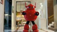 几个坏人闯进豪门,机器人肥威大展神威,把坏人打得抱头鼠窜