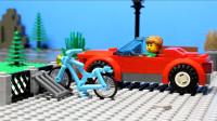 定格动画-乐高城市故事之加油开车不如骑自行车加油站趣事