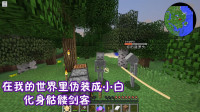 我的世界暮色森林01:游戏里还能变成骷髅小白?夜晚跑图根本没怪敢打你